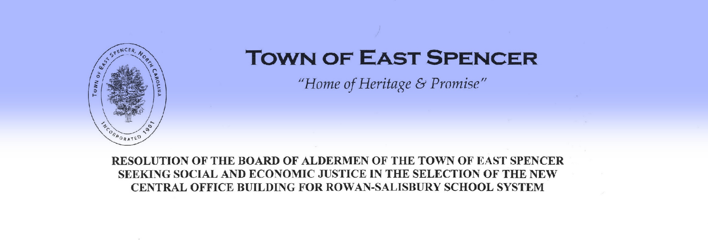 Town of East Spencer\'s Resolution Seeking Social and Economiceast spencer town