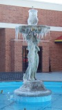 Frozen Salisbury Mall Fountain