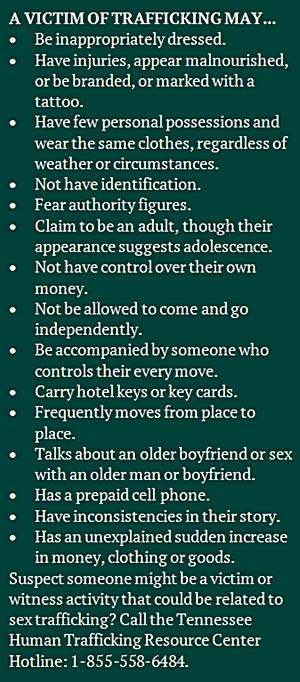 Human Trafficking signs 2