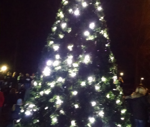 Children And Their Parents Gathered Around The Now Fully Lit Tree As Carolers Sang And A Lonesome Poor Will Joined In Nearby Christmas Was Only  Days